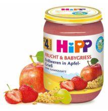 HiPP BIO Eper almás-grízben Gyümölcs és Gabona 4 hónapos kortól 190g
