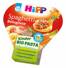 HiPP BIO Menü Bolognai Spagetti 1-3 éves kor között 250g