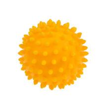 TULLO Masszázs labda, sárga, 9 cm 6 hónapos kortól