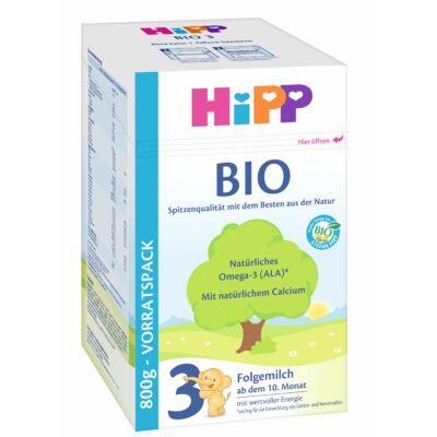HiPP 3 BIO Tejalapú anyatej-kiegészítő tápszer 10 hónapos kortól 800 g