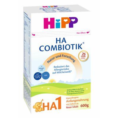 HiPP HA1 Combiotik Hypoallergén tejalapú anyatej-helyettesítő tápszer újszülött kortól 600g