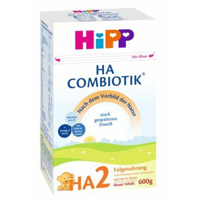 Hipp HA2 Combiotik Hypoallergén tejalapú anyatej-kiegészítő tápszer 6 hónapos kortól 600g