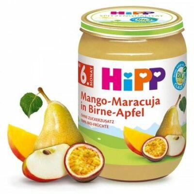 HiPP BIO Mangó-maracuja-körte-alma 6 hónapos kortól 190g