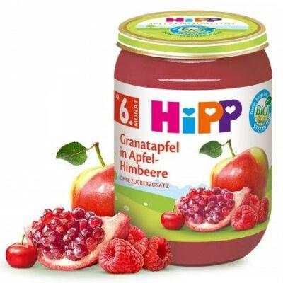HiPP BIO Gránátalma alma-málnával 6 hónapos kortól 190g