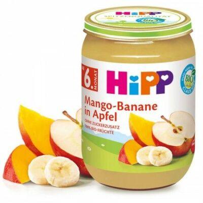 HiPP BIO Mangó-banán-alma 6 hónapos kortól 190g