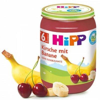 Hipp BIO Gyümölcspüré Meggy-banán 6 hónapos kortól 190g