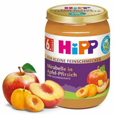 HiPP BIO Gyümölcs Mirabella szilva Almával és Barackkal 6 hónapos kortól 190g