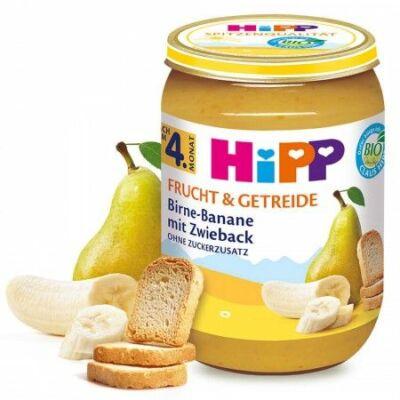 HiPP BIO Körte-banán kétszersülttel 4 hónapos kortól 190g