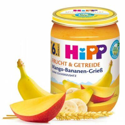 HiPP BIO Mangó-banán búzadarával 6 hónapos kortól 190g