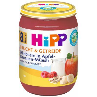 HiPP BIO Alma-banán-málna müzlis joghurttal 8 hónapos kortól 190g