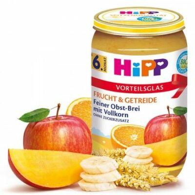 HiPP BIO Gyümölcskása teljes kiőrlésű gabonafélékkel 6 hónapos kortól 250g