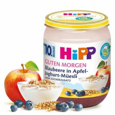 HiPP BIO Reggeli müzli Joghurt-áfonya-alma 10 hónapos kortól 160g