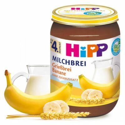 HiPP BIO Banános tejebgríz 4 hónapos kortól 190g