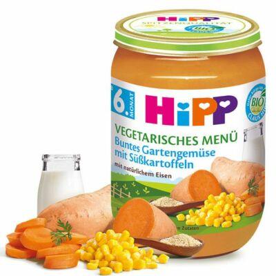 HiPP BIO Zöldségek Édesburgonyával 6 hónapos kortól 190g