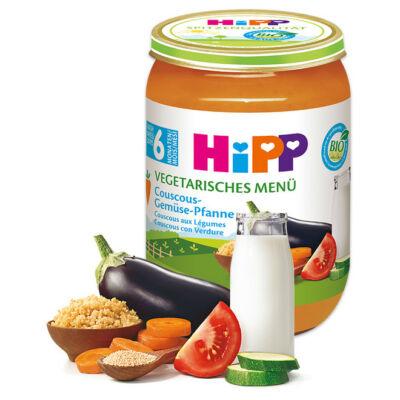 HiPP BIO Kuszkusz Zöldségekkel Vegetáriánus menü 6 hónapos kortól 190g