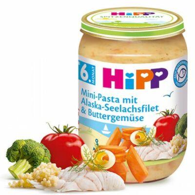 HiPP Aprótészta alaszkai tőkehallal és vajas zöldségekkel 6 hónapos kortól 190g