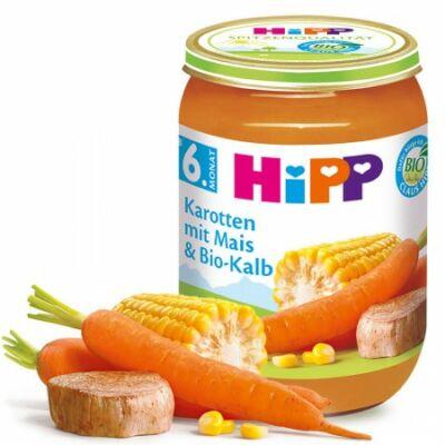 HiPP BIO Sárgarépa kukoricával és borjúhússal 6 hónapos kortól 190g