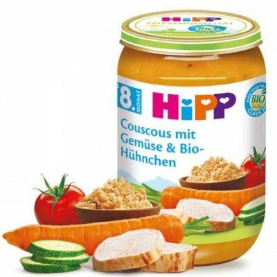 HiPP BIO Kuszkusz zöldséggel és csirkével 8 hónapos kortól 220g
