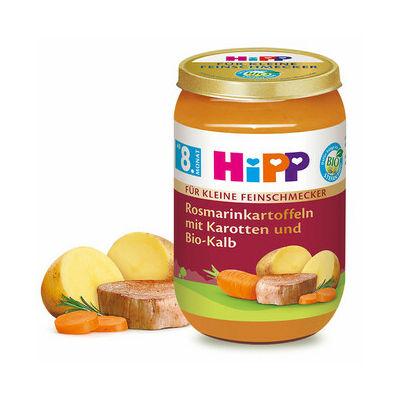 HiPP BIO Rozmaringos-burgonya Sárgarépával és Borjúval 8 hónapos kortól 220g