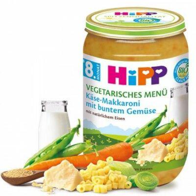 HiPP BIO Sajtos Makaróni Zöldségekkel 8 hónapos kortól 220g