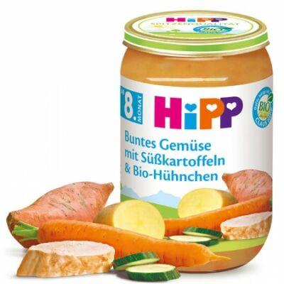 HiPP BIO Zöldség-édesburgonya-csirkehús 8 hónapos kortól 220g