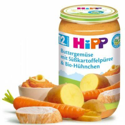HiPP BIO Vajas zöldségek édesburgonyával és BIO csirkével 12 hónapos kortól 250g