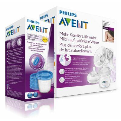 Avent Natural kézi mellszívó + Ajándék VIA pohár 180 ml - 5 db