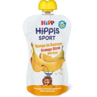 HiPP HiPPiS SPORT Banán-narancs-körte-mangó rizsliszttel BIO 12 hónapos kortól
