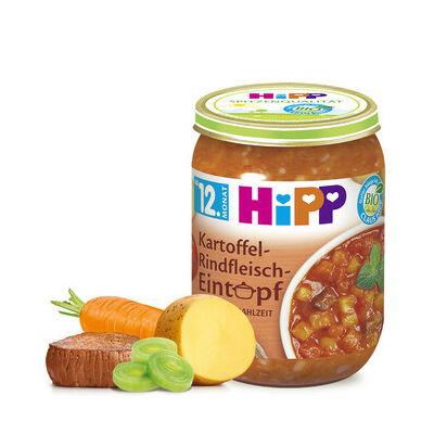 HiPP BIO Burgonyás-marhahúsos Egytálétel 12 hónapos kortól 250g