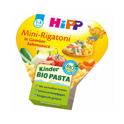 HiPP BIO Menü Rigatoni tészta tejszínes-zöldséges szószban 1-3 éves kortól 250g