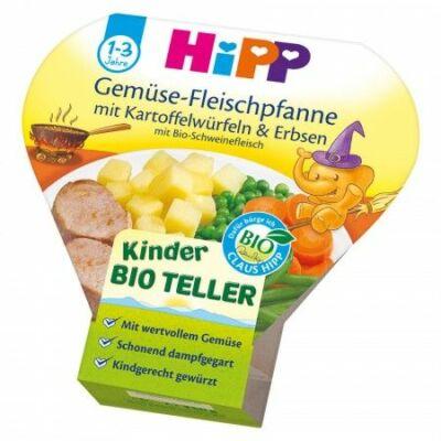 HiPP BIO Menü Zöldséges-húsos, burgonyakockákkal és borsóval 1-3 éves kor között 250g