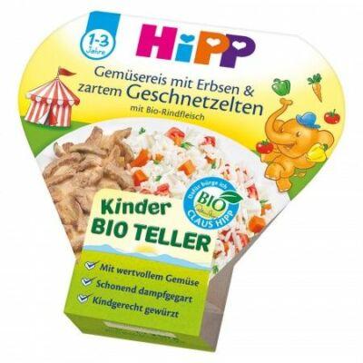 HiPP BIO Menü Zöldséges rizs cukorborsóval és marhahússal 1-3 éves kor között 250g