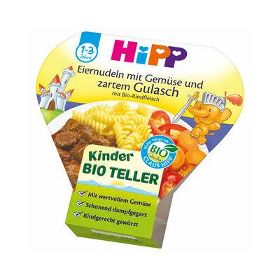 HiPP BIO Menü Tészta Zöldséggel és Pörkölttel 1-3 éves kor között 250g