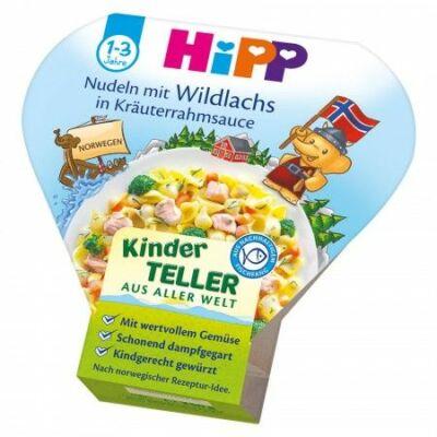 HiPP Menü Lazac tésztával zöldfűszeres tejszínes mártásban 1-3 éves kor között 250g