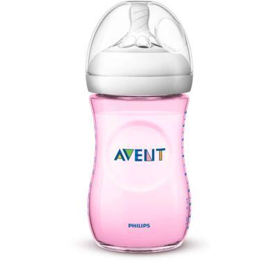 Philips AVENT Natural Cumisüveg PP 260 ml rózsaszín lányos 1+