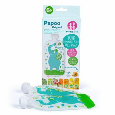 P&M Papoo Original tasak bébiételekhez, elefánt 150ml, 6 db