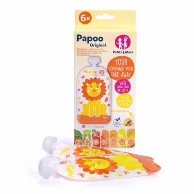 P&M Papoo Original tasak bébiételekhez, oroszlán 150ml, 6 db