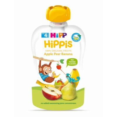 HiPP HiPPiS Alma-körte-banán BIO bébiétel