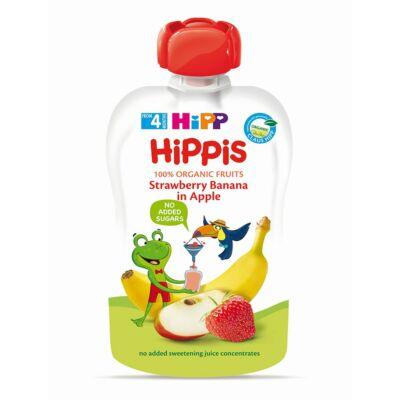 HiPP HiPPiS Eper-banán almával BIO bébiétel