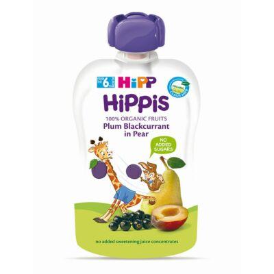 HiPP HiPPiS BIO Szilva-feketeribizli körtével gyümölcspép bébiétel 6 hónapos kortól 100 g