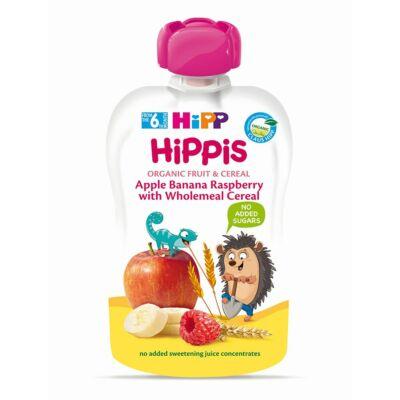 HiPP HiPPiS Alma-banán-málna teljes kiőrlésű gabonával BIO bébiétel