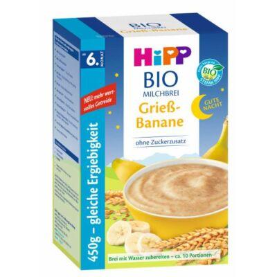 HiPP BIO Jó Éjt Tejpép Banános-grízes 2x225g 6 hónapos kortól