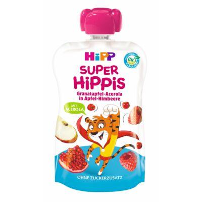 HiPP HiPPiS Gránátalma-acerola málnás almában BIO desszert 1 éves kortól