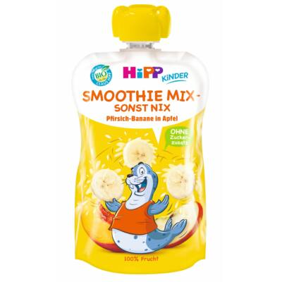 HiPP BIO Smoothie Mix Őszibarack-alma-banán 1 éves kortól