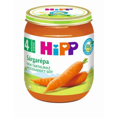 HiPP BIO Sárgarépa bébiétel 4 hónapos kortól