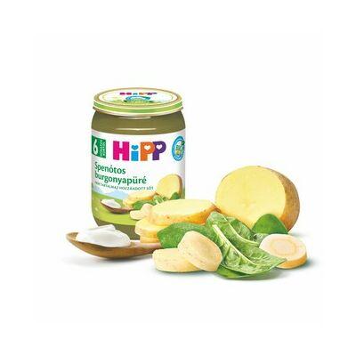 HiPP BIO Spenótos burgonyapüré bébiétel 6 hónapos kortól