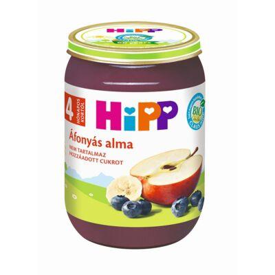 HiPP BIO Áfonyás alma bébiétel 190g 4 hónapos kortól