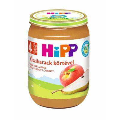 HiPP BIO Őszibarack körtével bébiétel 4 hónapos kortól 190g
