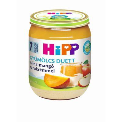 HiPP BIO Alma-mangó túrókrémmel gyümölcs duett bébiétel