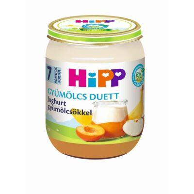 HiPP BIO Joghurt gyümölcsökkel gyümölcs duett bébiétel